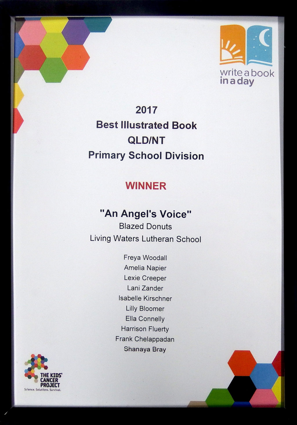"""An Angel's Voice"""" won the Best Illustrated Book category in"""